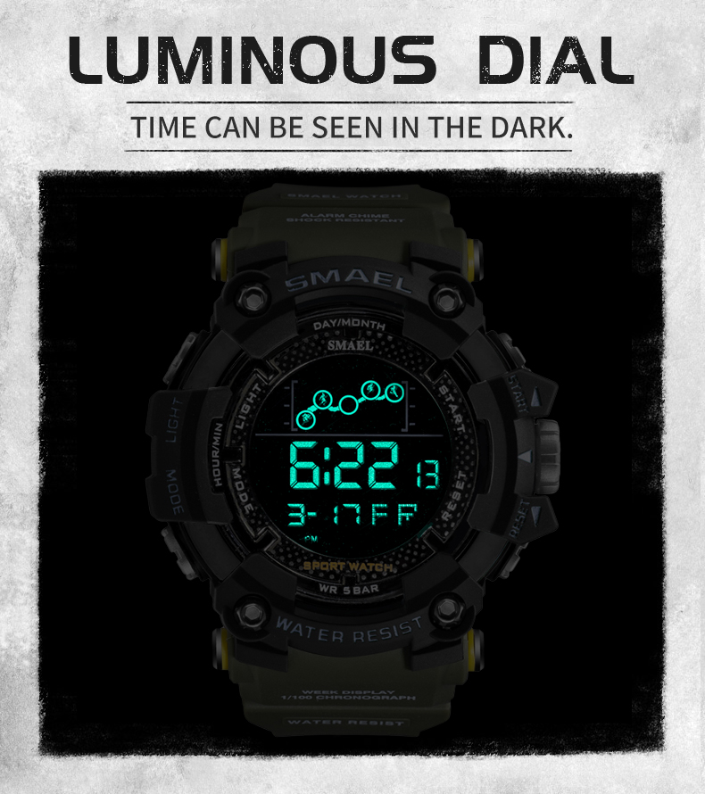 HTB1bhw3RrPpK1RjSZFFq6y5PpXaf Waterproof Chronograph Digital Watch For Men Fashion Outdoor Sport Wristwatch Top Brand SMAEL Men's Watch Alarm Clock