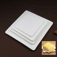white ceramic table decoration plate bone china fashion plate 10 cake pan fruit 12 square plate