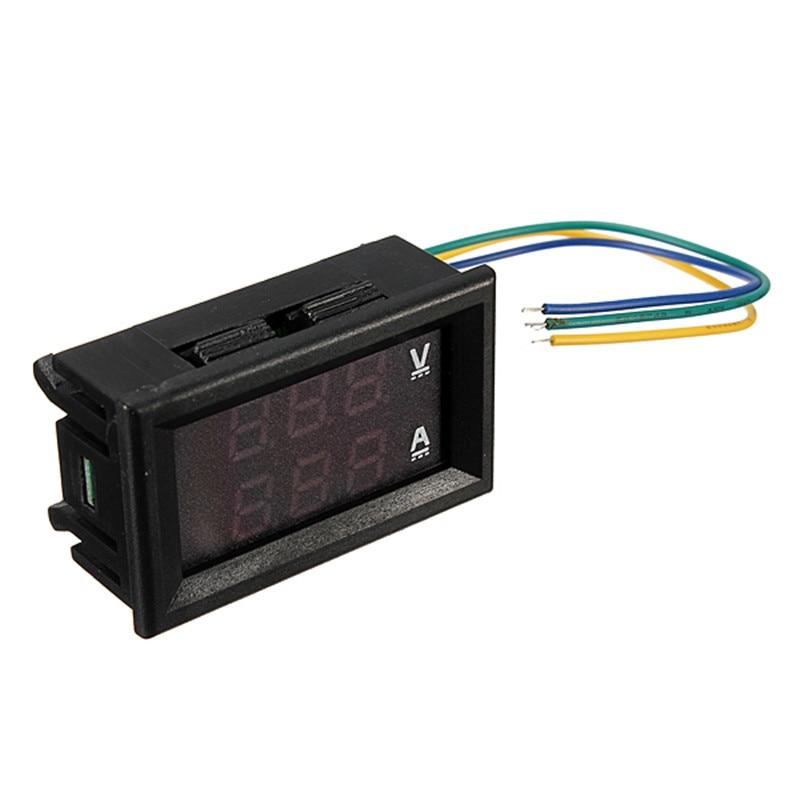 DC 4.5-30V 0-100A Dual LED Digital Voltmeter Ammeter Voltage Amp Meter Power Test voltage 0 ~ 100V