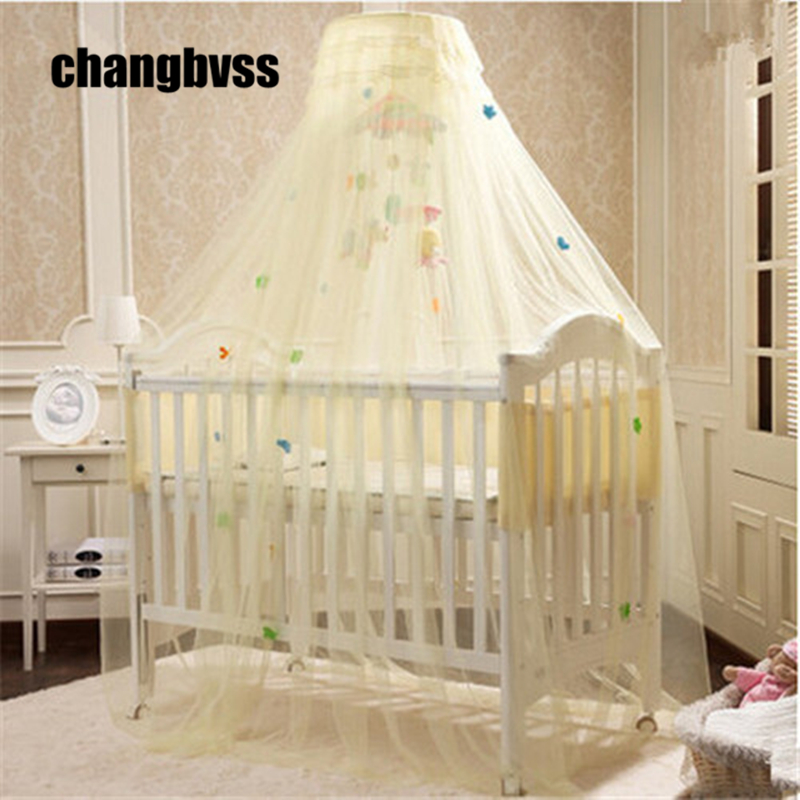 Hot Sale Yellow White Pink Color Baby Infant Kids Bed Net Baby Crib Canopy Tent Kids Crib Mosquito Net Cortina Para Cama Dossel baby bed curtain kamimi children room decoration crib netting baby tent cotton hung dome baby mosquito net photography props