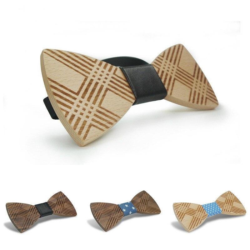 Mode Original Holz Elegante Gentleman Beiläufige Fliegen Handgemachtes Schmetterling Hochzeit Bow Krawatten Schmetterling Holz Einzigartige Bindung Bekleidung Zubehör