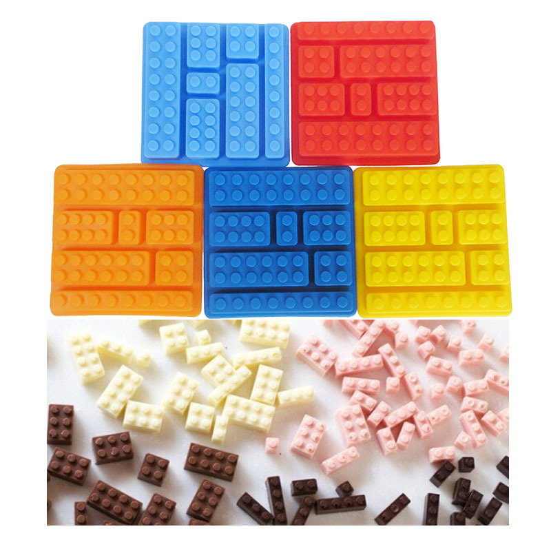 Kitchen Wares Silicone Ice Tools Building Blocks Ice Molds Ice Cube Tray Lego Designing Chocolate Molds