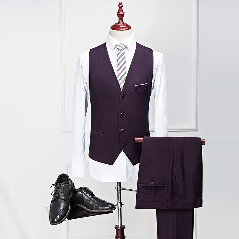 Mejor Formal De Piezas Ropa Negro Hombre púrpura Novio chaqueta 3 Trajes Traje Para Esmoquin azul Baile Chaleco Boda Bridalaffair Pantalones Negocios Hombres Z8Saqa