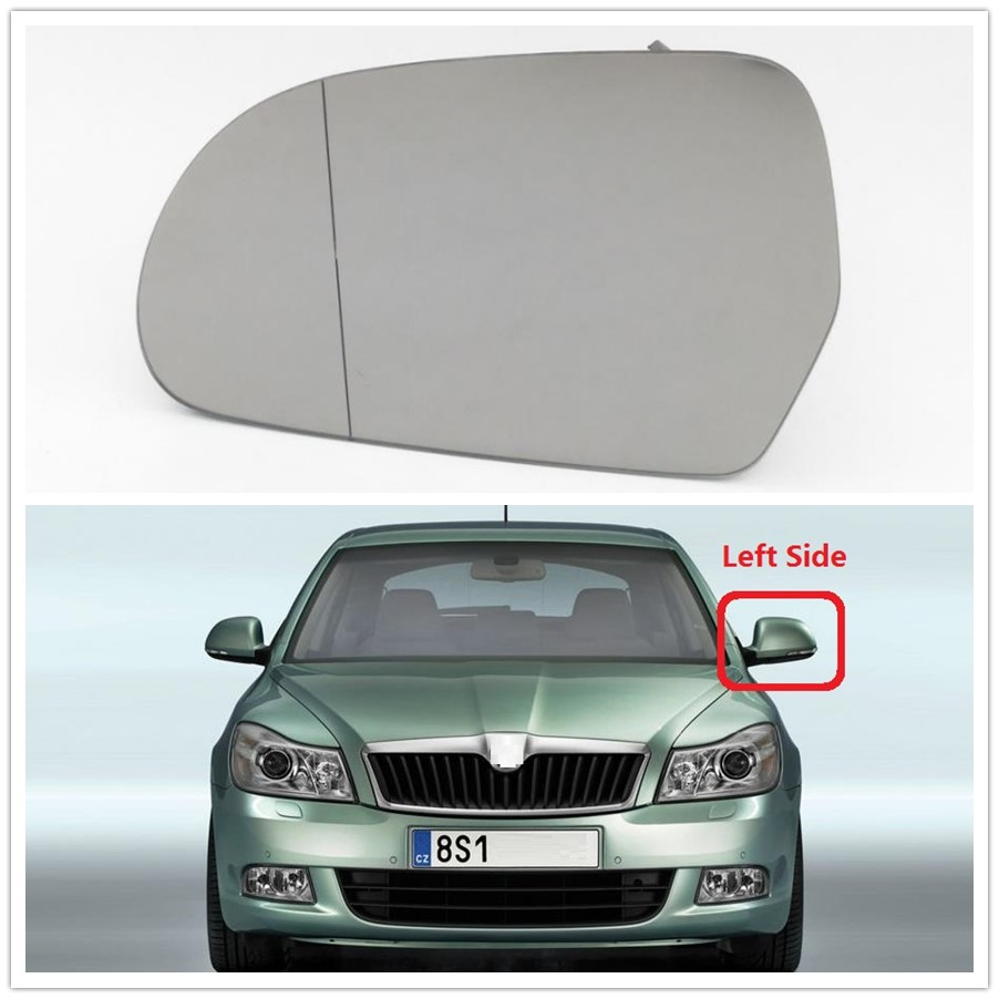Skoda Octavia Wing Mirror Replacement with back plate,Left Hand side 2008-2013