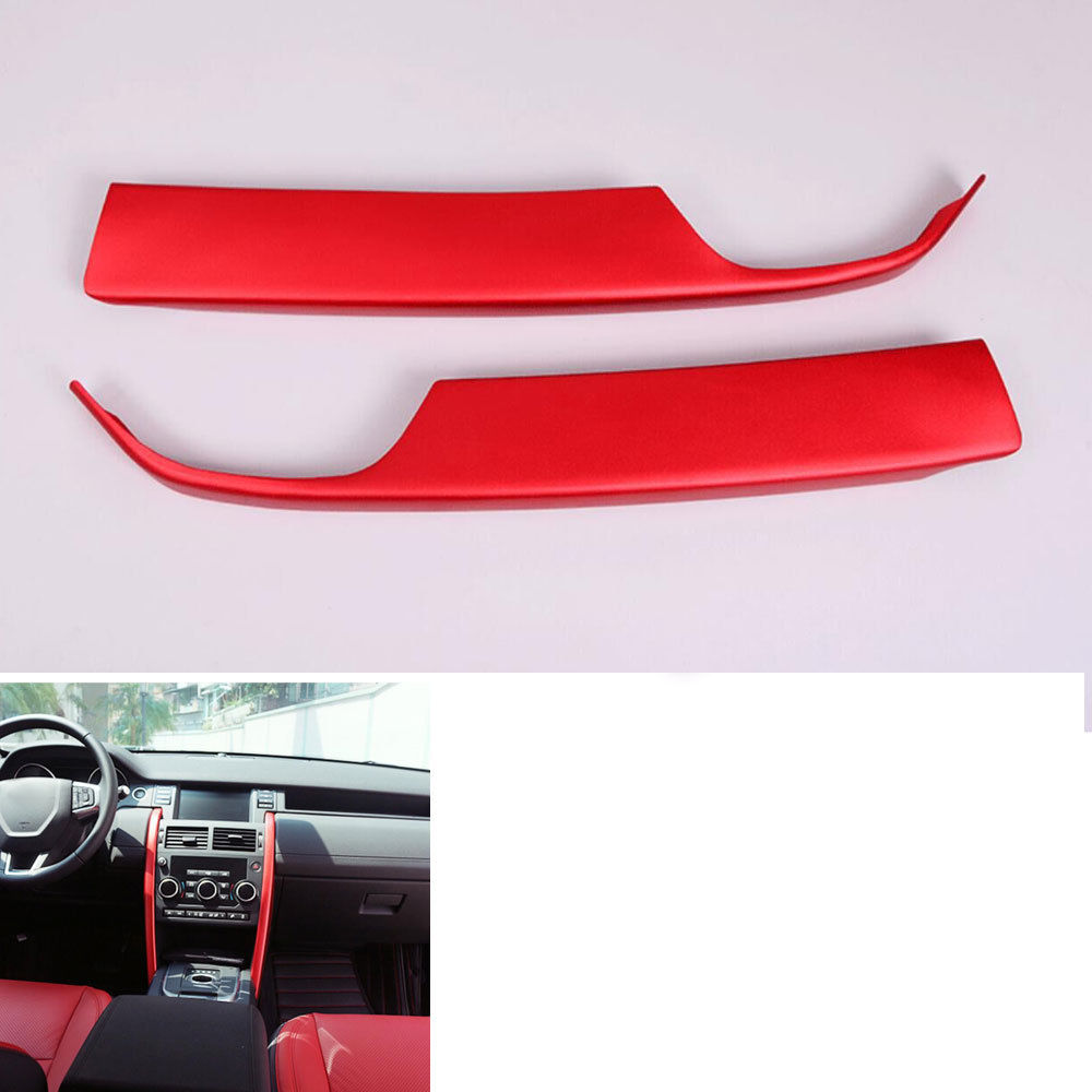 Aluminum Car Decor Center Console Strip Side Trim Cover For Land Rover Discovery Sport 2015 2016 Car Styling car abs matte chrome center console panel molding trim for land rover discovery 4 2010 2016 accessories car styling