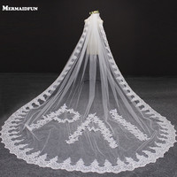 Personalized Handmade Custom Made Wedding Veil with Name Customized Letter Number Character 4 Meters Long Lace Bridal Veil
