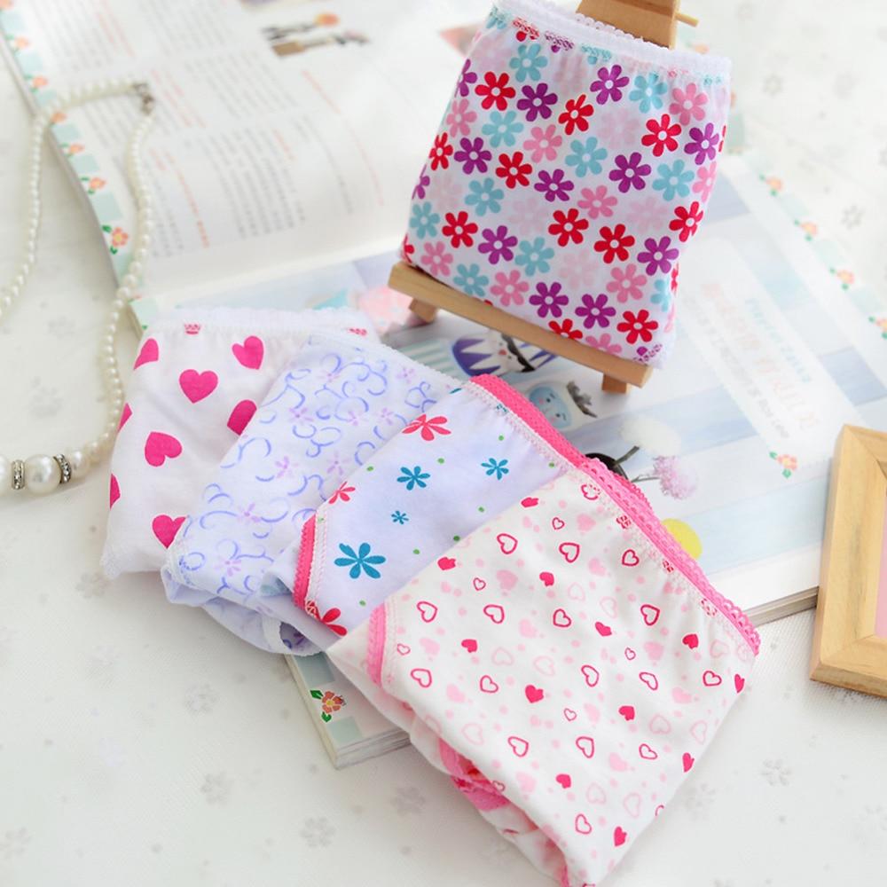 6pcs/pack 2018 Fashion New Baby Girls Underwear Cotton Panties For Girls Kids Short Briefs Children Underpants 1