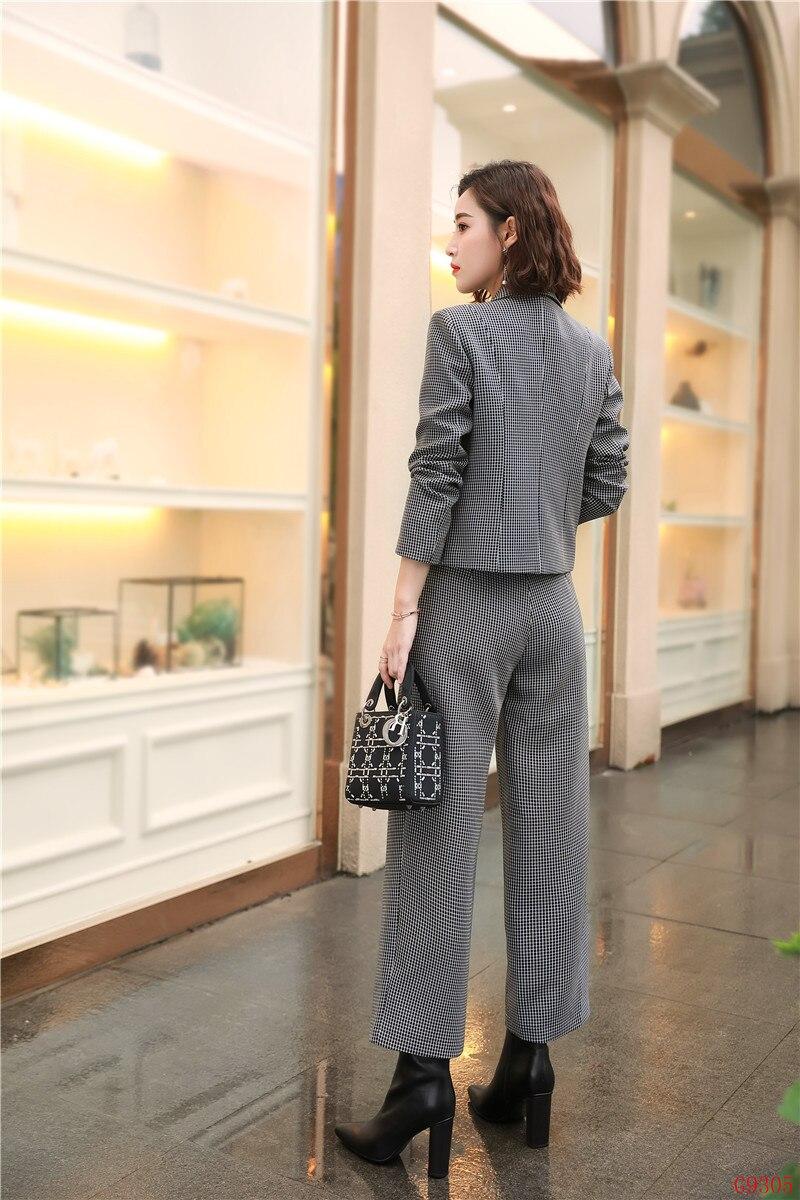 De Et Work Femmes Uniformes Dames Nouveau pourpre Styles Ol 2019 Gris Wear Veste Gris Casual Costumes Pantalon Blazer Mode Bureau Ensembles D'affaires xZCzq