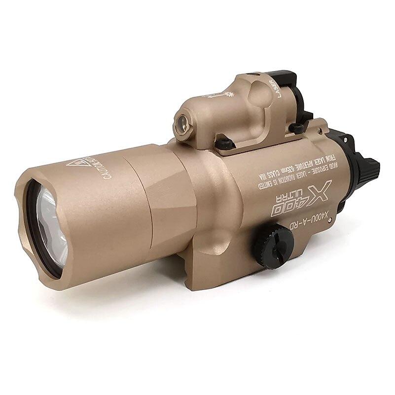 Lanterna com Mira Sotac-gear Série Luz Arma Tactical Caça Laser Vermelho 20 Milímetros Weaver Picatinny Rail Mount sf X400 X400u