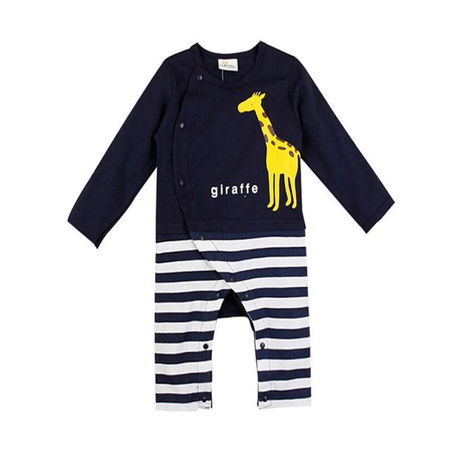 2016 Novo Animal Bonito Do Bebê Do Algodão Roupa Do Bebê Meninos Romepers Primavera Verão Meninas Do Bebê Macacões Roupas Infantis de Alta Qualidade