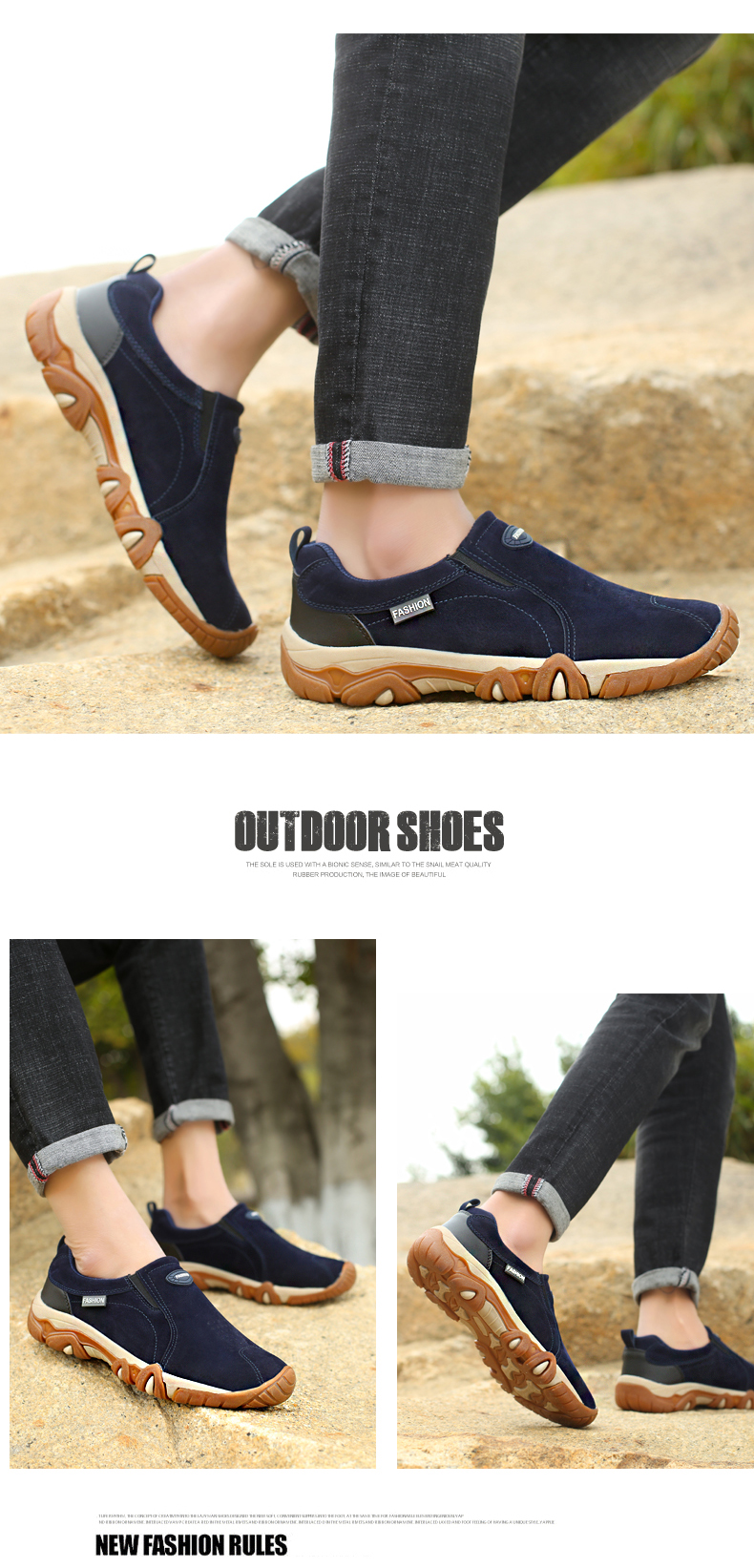 SHANTA 2019 New Men Shoes Leather Loafers Breathable Spring Autumn Casual Shoes Outdoor Non Slip Men Sneakers