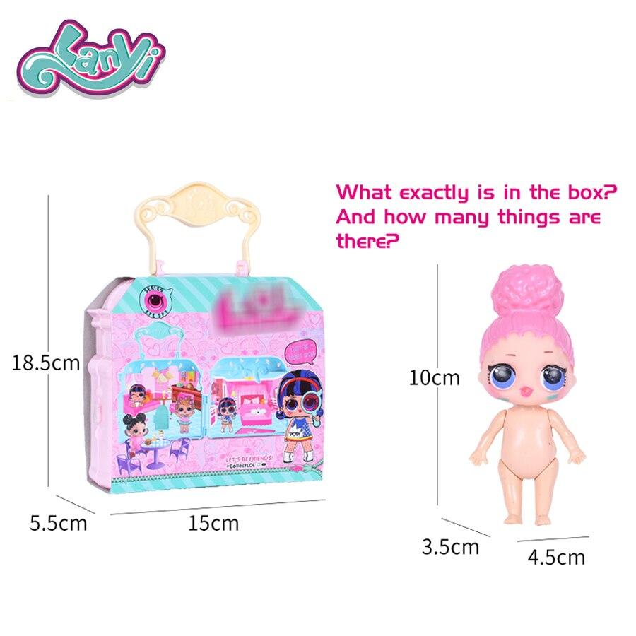 Lanyitoys muñecas originales con sorprendente bolso muñeca muñecos de acción anime lol juguetes para niños niñas de cumpleaños regalos de navidad