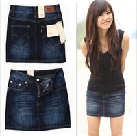 2013 Special Classic Fashion Denim Skirt Package Hip The Waist Section Cowgirl Skirts Denim Skirt