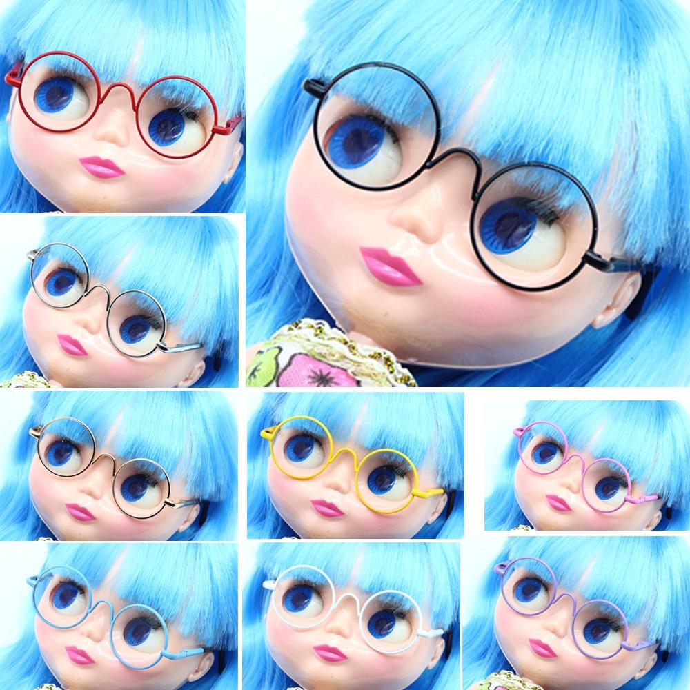 82a1d685acee77 Poupée Accessoires ronde en forme de Rond lunettes verres colorés lunettes  de soleil adapté pour BJD blythe poupée comme pour poupées American girl  dans ...