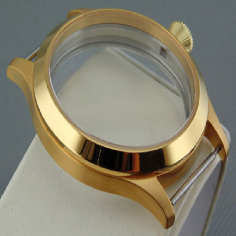 45mm Sapphire 316L Watch case fit 6497/6498 Seagull ST36 watch movement45mm Sapphire 316L Watch case fit 6497/6498 Seagull ST36 watch movement