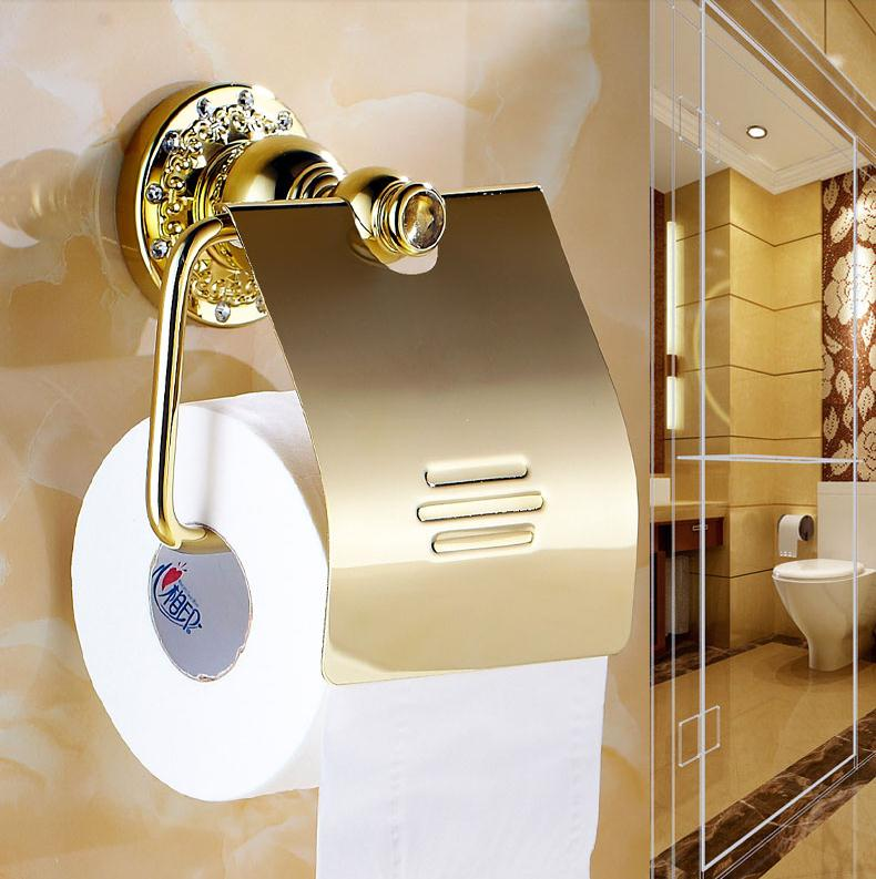 New Luxury Wall Mounted Crystal   Brass Gold Toilet Paper Holder Roll Tissue  Box Bathroom AccessoriesPopular Paper Box Gold Toilet Buy Cheap Paper Box Gold Toilet lots  . 24k Gold Toilet Paper. Home Design Ideas