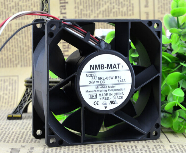 Wholesale: NMB 3615RL-05W-B76 90*90*38 24V 1.47A 9CM converter fan free shipping nmb new 1611vl 05w b49 4028 4cm 24v cooling fan