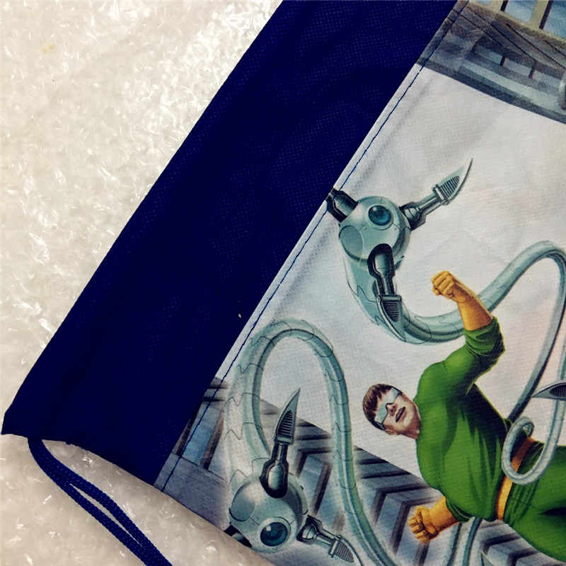 Школьный рюкзак с рисунком для мальчиков, 1 шт., сумка на завязках с единорогом для девочек, Студенческая сумка для книг, детская школьная сумка, Мстители с человеком-пауком