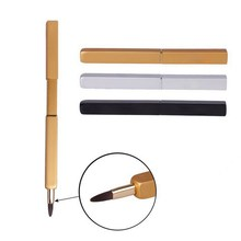 Professional Retractable Lip Brush Makeup Brush Lid Lipstick Brush Beauty Tools Portable Lip Brush tools wholesale