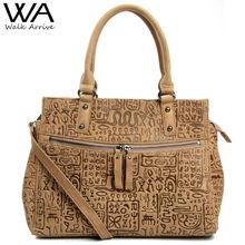 Walk Arrive Genuine Leather Women Handbag Shoulder Bag Brand Design Oracle Embossed Leather Tote Bag