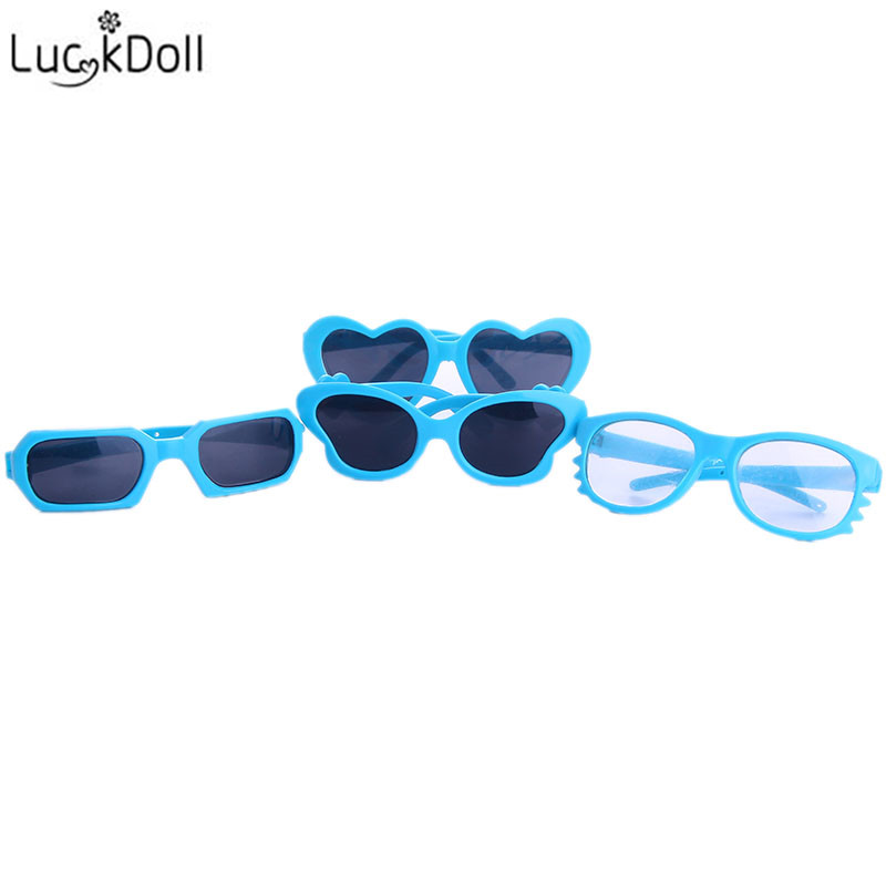 Luck Doll all kinds of doll sunglasses are suitable fit 43 centimeter baby dolls or 18 inch American girl doll accessories doll
