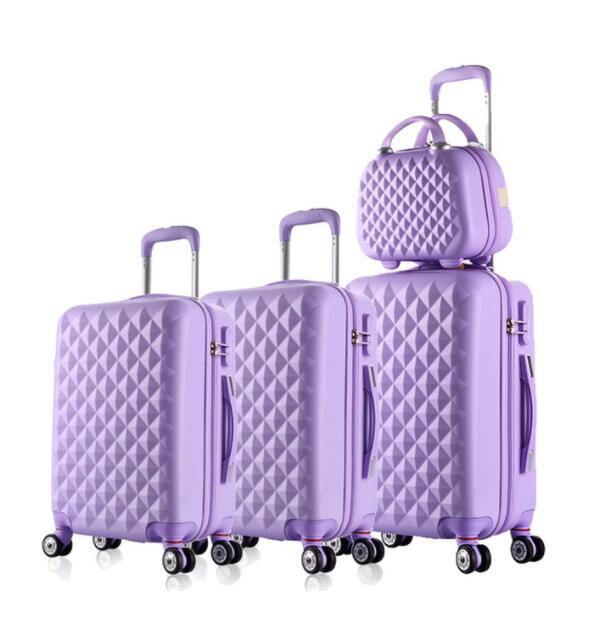 Travel tale spinner Дорожный чемодан из АБС набор жесткие стороны багажная сумка на колесиках комплекты одежды 3 предмета в комплекте - Цвет: light purple a set