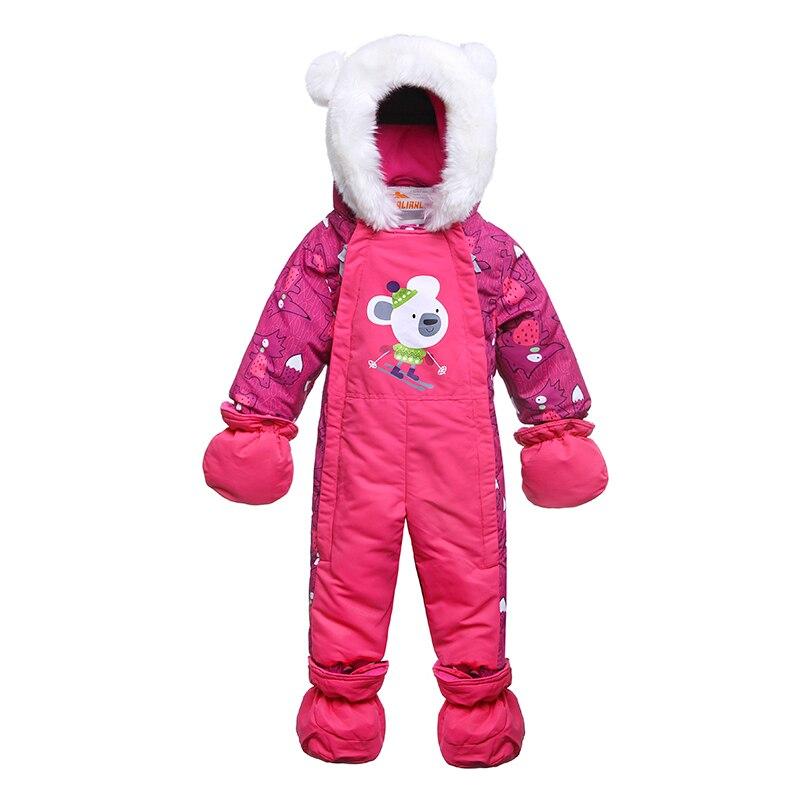2018 Новый стиль для новорожденных зимний комбинезон зимние детские зимний костюм с капюшоном меховой воротник хлопок теплый костюм из одног