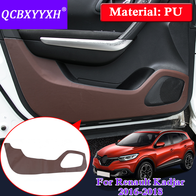 Car Styling Protector Edge Protection Pad Protected Anti-kick Door Mats Cover For Renault Kadjar 2016-2018 Internal Deocoration