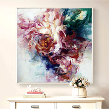 100% Hand Painted Abstract Big Flowers Oil Painting On Canvas Wall Art Adornment Pictures For Live Room Home Decor