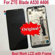 LTPro オリジナルベスト液晶ディスプレイタッチスクリーンデジタイザアセンブリセンサーフレームと Zte ブレード A606 A530 電話パネル部品
