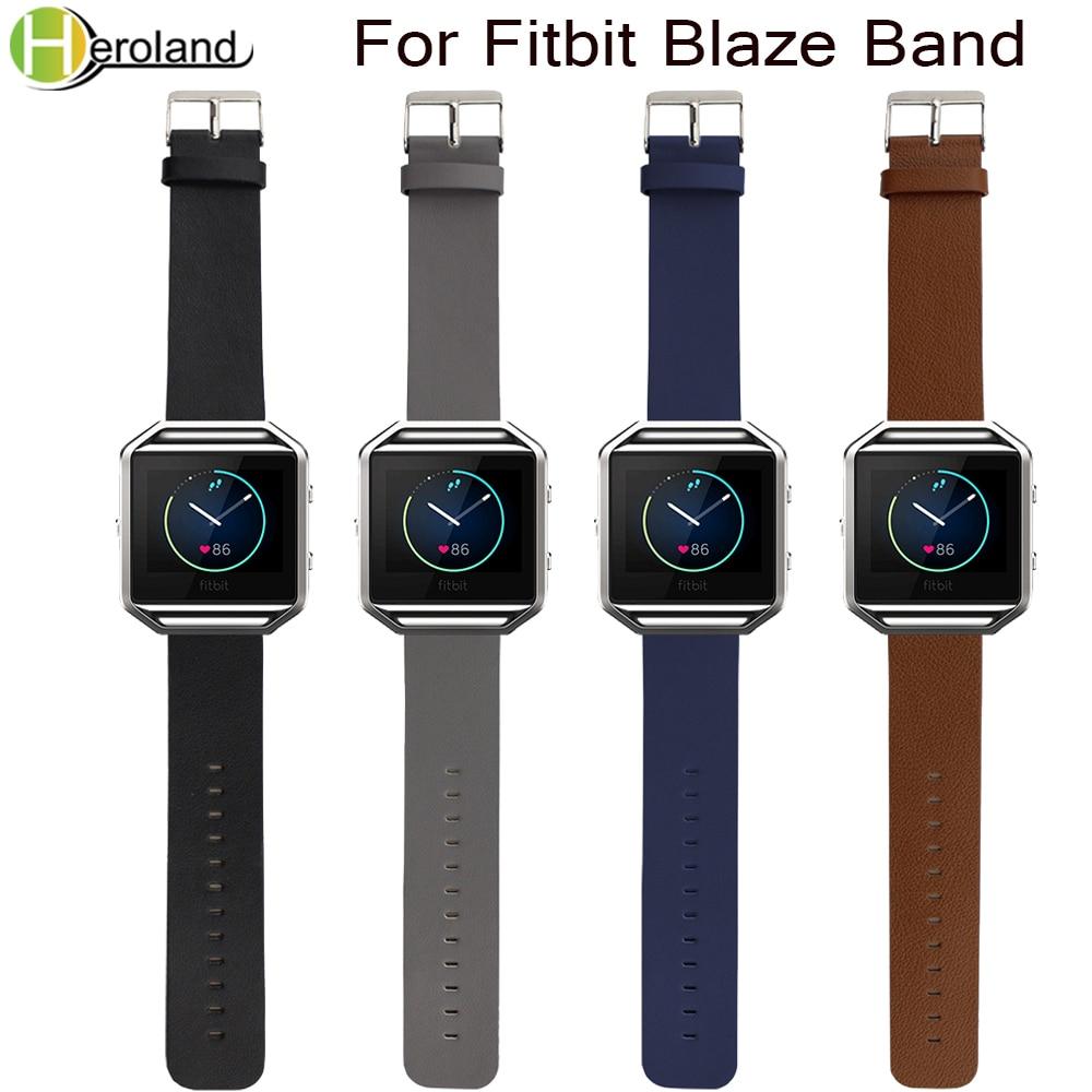 23mm Luxury Leather Watch Bands For Fitbit Blaze Wrist Strap Smart Sport Watch For Women Men Watchstrap Genuine For Fitbit Blaze