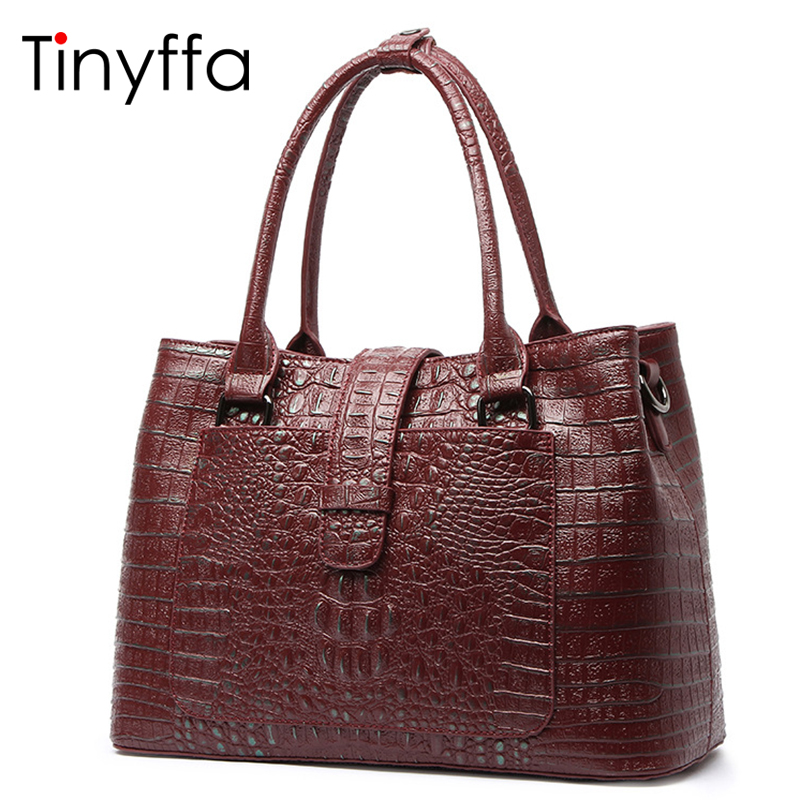 Tinyffa Genuine Leather Shoulder Handbag Women Bag Female Crossbody Bag For Women Messenger Bag Famous Brand Lady Tote Crocodile