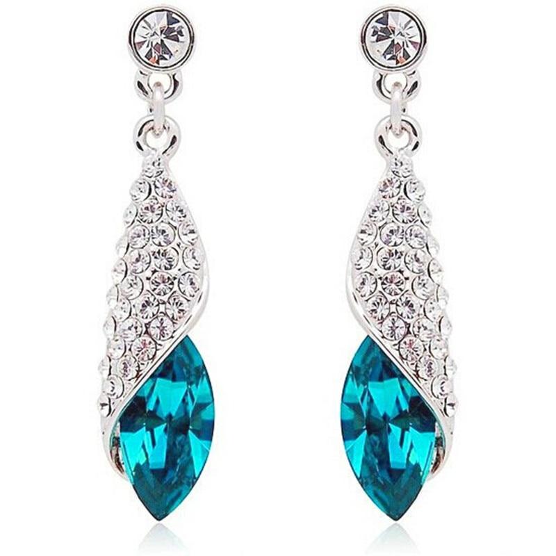 fa8edbe15b7f 100% joyas de plata de la concha azul Pendientes plata esterlina Pendientes  calidad superior!