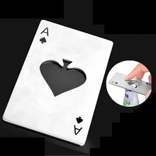 ФОТО new stylish hot sale poker playing card ace of spades bar tool soda beer bottle cap opener gift ss826