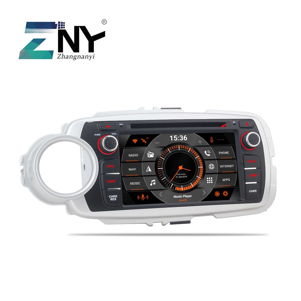 7 Android 8.0 Car Stereo GPS For Toyota Yaris 2012 2013 2014 2015 2016 2017 Auto Radio FM DVD Video WiFi Navigation Rear Camera