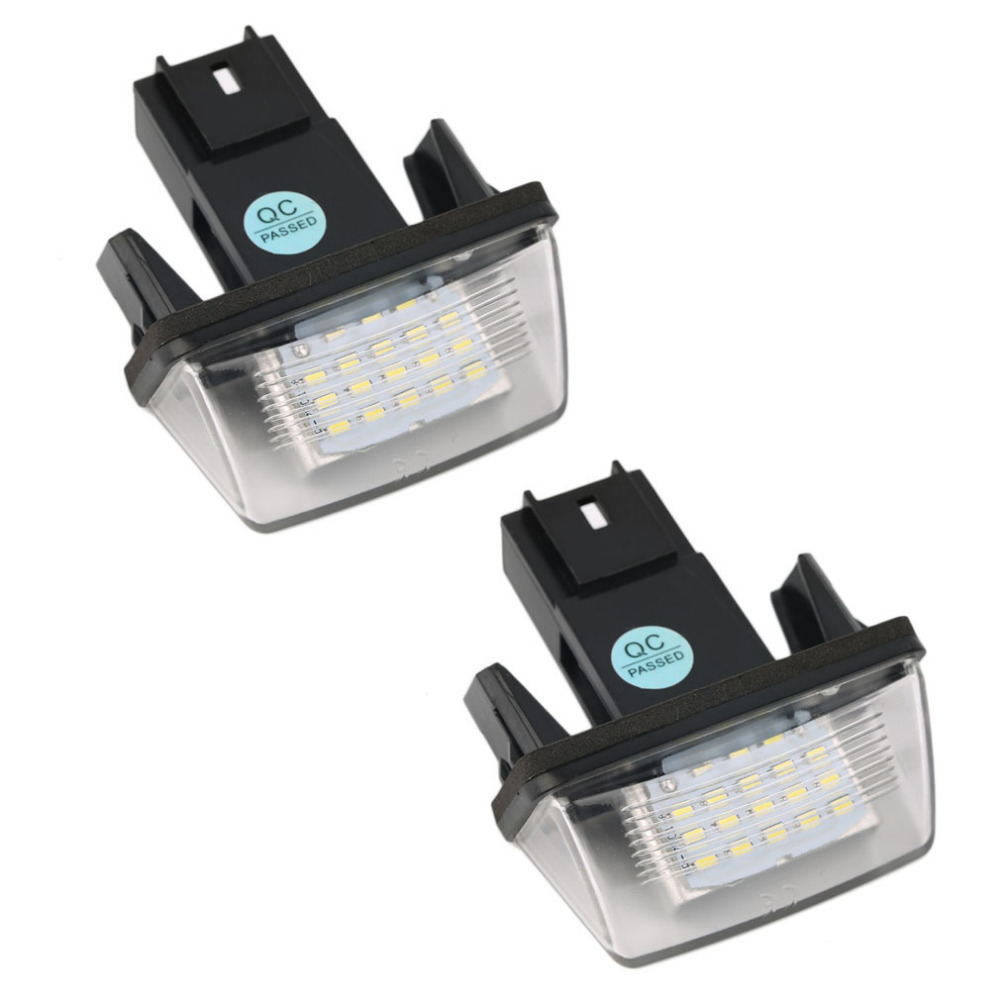 Super Bright 2PCS 12V 18 Led Licence Number Plate Light Bulbs 18 Led License Light For PEUGEOT 206 207 306 C3 C4 5 XSARA 2x 12v bright 3leds license plate light lamp bulbs number plate light for motorcycle boats aircraft automotive trailer rv truck