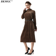 d95b3d62017 BKMGC 2017 New Arrive Winter Autumn Women Dress High Qaulity Full Sleeve  Tight Vintage Women s Dresses