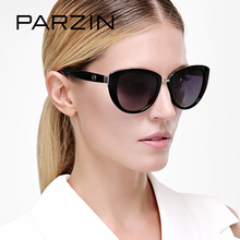 PARZIN Brand Elegant Cat Eye Sunglasses For Women Big Frame Real Polarized Anti-UV400 Sun Glasses High Quality Eye Glasses 9507
