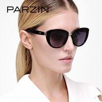 PARZIN Marca Elegante Occhio di Gatto Occhiali Da Sole Per Le Donne Grande Cornice Polarizzati Reale Anti-Uv400 Occhiali Da Sole di Alta Qualità Occhiali Da Vista 9507