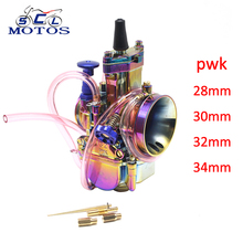 Sclmotos -28 30 32 34mm PWK motorcycle Carburetor Carburador with power jet Carb racing Scooter ATV Cafe Racer Pit Bike 125cc alconstar keihin koso oko motorcycle carburetor carburador 28 30 32 34mm with power jet for atv off road dirt pit bike racing