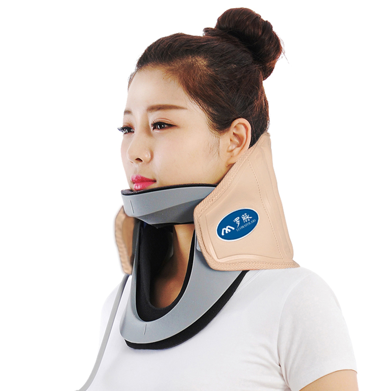 1PCS Cervical Collar Neck Brace Air Traction Therapy Device Relax Pain Relief Tool Health Care Product Neck Support Massager usb heating new neck cervical traction device collar head back shoulder neck pain headache health care massage device