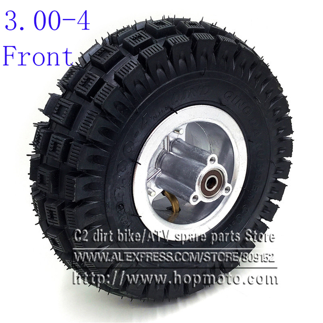 3.00-4 Electric Scooter Front Wheel with QIND tyre Alloy Rim hub and inner tube wheels Gas scooter bike motorcycle