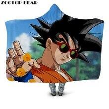 Sunglasses Boys Hooded Blanket Cloak Coats Office Quilts Bedding Cartoon Anime D