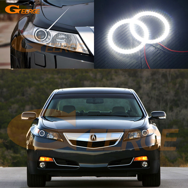 ᗜ LjFor Acura TL Excellent Led Angel Eyes Ultra - Acura tl halo headlights