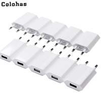 Wholesale 10PCS Lot Travel Wall Charging Charger Power Adapter USB AC EU/USA Plug For Apple iPhone 6 6s 5 5S SE 5C 4 4S 3GS iPod