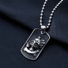 Beier Wholesale Cute Pirate Skull Pendant Necklace For Girl Boy Stainless Steel No Fade Punk Jewelry WP8-036(China)