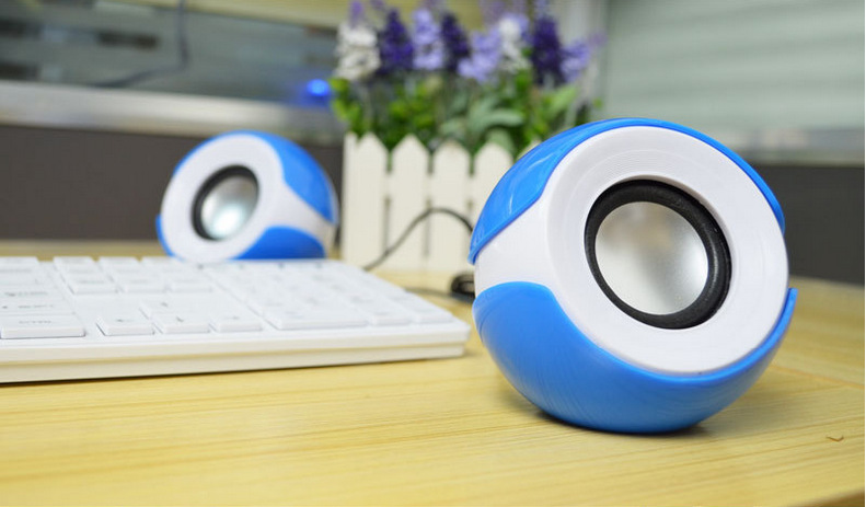 New Style Portable USB 2.0 Desktop Mini Subwoofer Stereo Speakers Computer Notebook Mini Speaker set MP3 Music Player