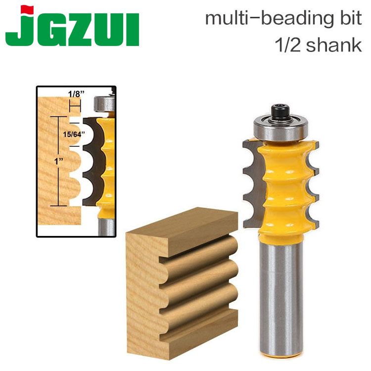 1pc 1/2 Shank Triple Bead/ Column Molding Router Bit Line knife Woodworking cutter Tenon Cutter for Woodworking Tools tungsten alloy steel woodworking router bit buddha beads ball knife beads tools fresas para cnc freze ucu wooden beads drill