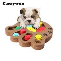 Carrywon Pet Spielzeug Klaue Knochenform Nahrungsmittelzufuhr Interaktive Holzspielzeug Puzzle Spielzeug Hund Spielzeug Pädagogisches IQ Ausbildung Spiel Platte