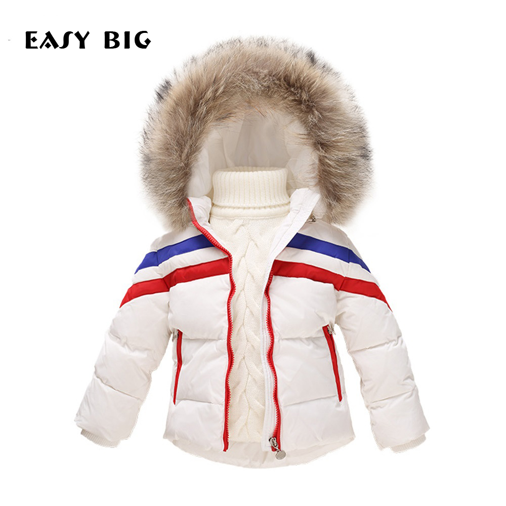 EASY BIG Winter Warm Hooded Children Down Jacket For Girls Unisex Children Parkas Jacket For Boys CC0128 a15 girls jackets winter 2017 long warm duck down jacket for girl children outerwear jacket coats big girl clothes 10 12 14 year